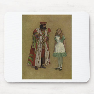 Alice in Wonderland and the King of Hearts Mouse Pad
