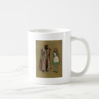 Alice in Wonderland and the King of Hearts Coffee Mugs