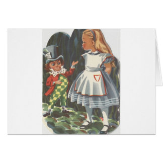 Alice In Wonderland and The Mad Hatter Card