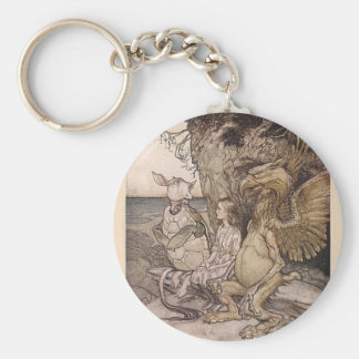 Alice in Wonderland and the Mock Turtle Key Ring