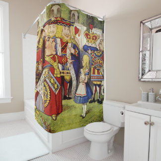 Alice in Wonderland and the Queen of Hearts Shower Curtain