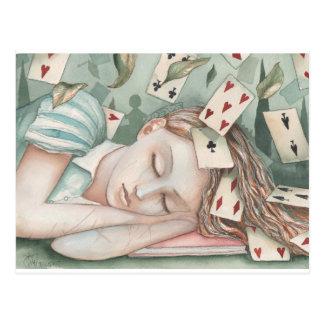Alice in Wonderland asleep Postcard
