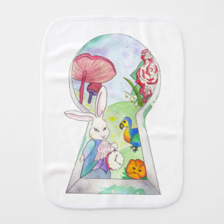 Alice in Wonderland Baby Burp Cloth