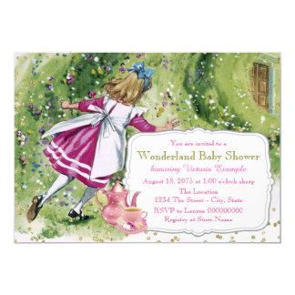 Alice in Wonderland Baby Shower 13 Cm X 18 Cm Invitation Card