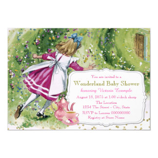 Alice in Wonderland Baby Shower Card