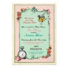 Alice In Wonderland Baby Shower Pink Invitation