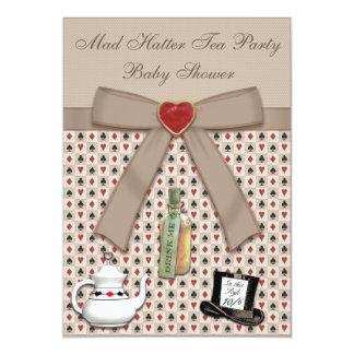 Alice in Wonderland Baby Shower Tea Party Card