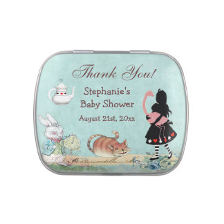 Alice in Wonderland Baby Shower Thank You Favor Jelly Belly Tin