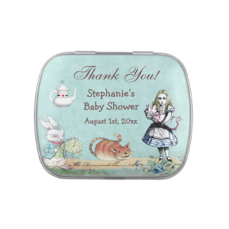 Alice in Wonderland Baby Shower Thank You Favor Jelly Belly Tins