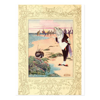 Alice in Wonderland - Beach Scene Postcard