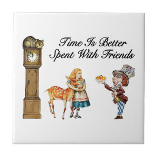 Alice In Wonderland Better With Friends Tile