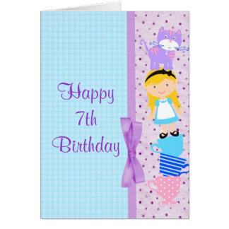 Alice In Wonderland Birthday Celebration Greeting Card