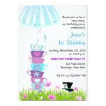 "Alice in Wonderland Birthday Invite Madhatter 5"" X 7"" Invitation Card"
