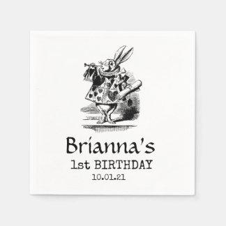 Alice In Wonderland Birthday Paper Napkin
