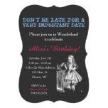 Alice in Wonderland birthday party custom vintage Custom Invitation