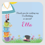 Alice in Wonderland Birthday Party Favour Stickers