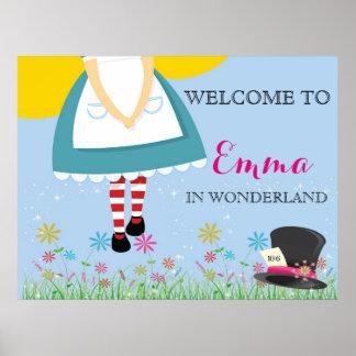 Alice in Wonderland Birthday Poster