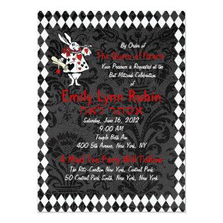 Alice in Wonderland Black Party Invitation