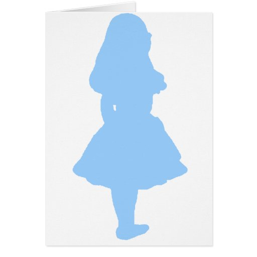 Alice In Wonderland Blue Card