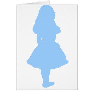 Alice In Wonderland Blue Greeting Card
