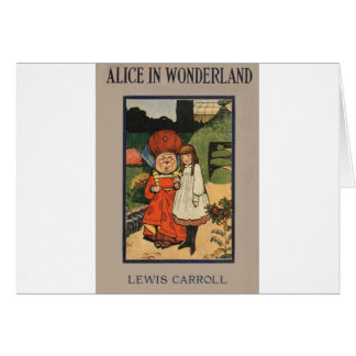 Alice in Wonderland Book Cover Greeting Card