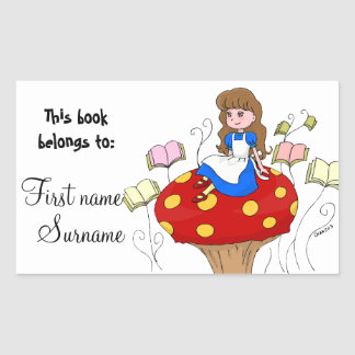 Alice in Wonderland Book Label