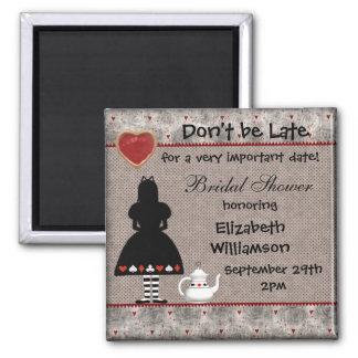 Alice in Wonderland Bridal Shower Save the Date Magnet