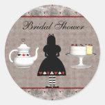 Alice in Wonderland Bridal Shower Tea Party Stickers