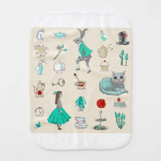 Alice in wonderland burp cloths