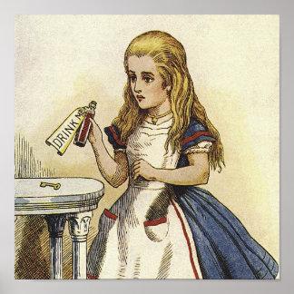 Alice in Wonderland Canvas Art Poster