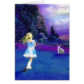 Alice in Wonderland Greeting Card