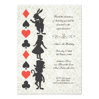 Alice in Wonderland Cards Tea Party Birthday