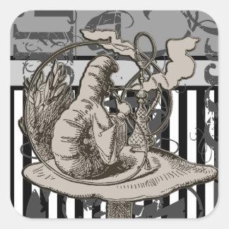 Alice In Wonderland Caterpillar Grunge Stickers