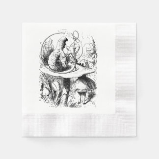 alice in wonderland Caterpillar Hookah napkin Paper Napkins