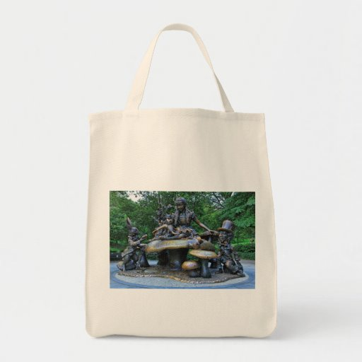Alice in Wonderland - Central Park NYC Canvas Bags