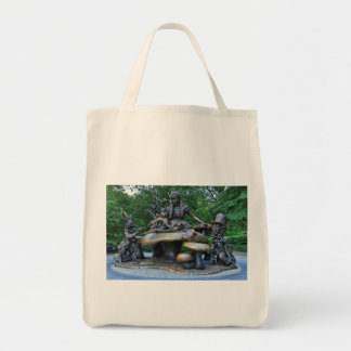 Alice in Wonderland - Central Park NYC Grocery Tote Bag