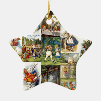 alice in wonderland ceramic star decoration