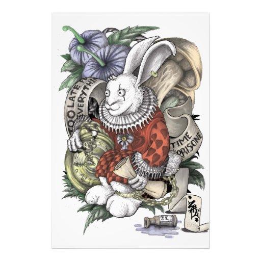 Alice in Wonderland: Chained Rabbit Photo Art