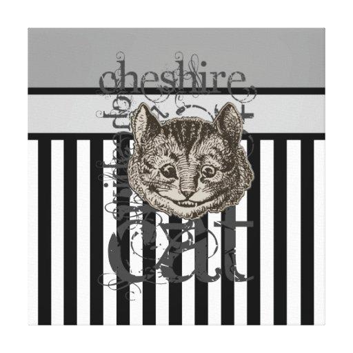 Alice In Wonderland Cheshire Cat Grunge Gallery Wrap Canvas