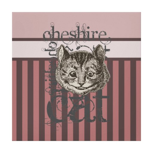 Alice In Wonderland Cheshire Cat Grunge (Pink) Canvas Prints