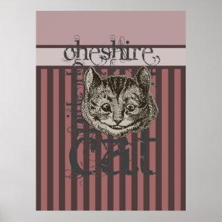 Alice In Wonderland Cheshire Cat Grunge Pink Print