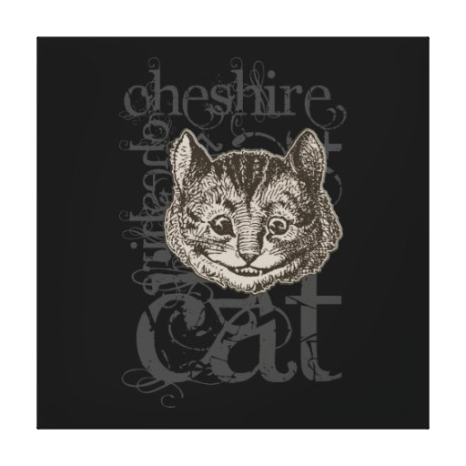 Alice In Wonderland Cheshire Cat Grunge (Single) Gallery Wrap Canvas