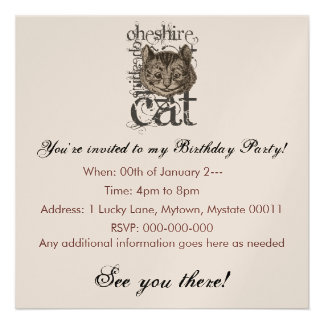 Alice In Wonderland Cheshire Cat Grunge Single Announcements