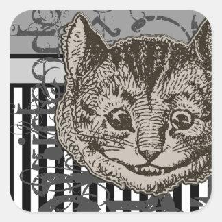 Alice In Wonderland Cheshire Cat Grunge Stickers