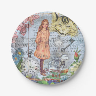 Alice in Wonderland Cheshire Cat Paper Plate