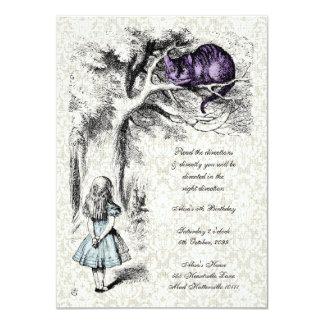 Alice in Wonderland Cheshire Cat Tea Party Invite