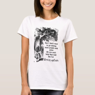Alice in Wonderland; Cheshire Cat with Alice T-Shirt