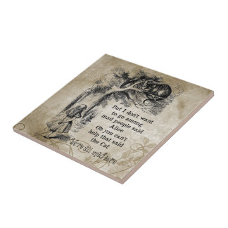 Alice in Wonderland; Cheshire Cat with Alice Tile