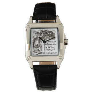 Alice in Wonderland; Cheshire Cat with Alice Wrist Watch