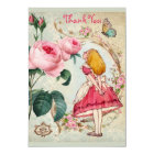 Alice in Wonderland Collage Wedding Thank You Card